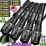 150000LM Tactical 5Mode T6 Zoomable Focus 9900mAh 18650 LED Flashlight Torch Set