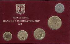 1987 Coins of Israel Official Uncirculated Hanukka Mint Set W/hanukkah Mint Mark