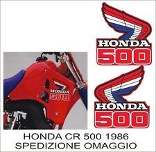 Adesivi in kristal HONDA CR 500 1986 replica originali