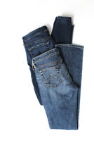 AG Adriano Goldschmied Womens Skinny Straight Leg Jeans Blue Cotton 27 Lot 2