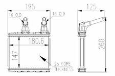 96089 Hvac Heater Core Front Tyc 96089