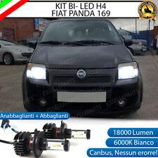 KIT LED H4 6000K FIAT PANDA II 169 18000 LUMEN CANBUS XENO XENON 100% NO ERRORE
