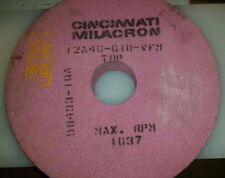 "Cincinnati Milacron 14"" Wheel x 3"" Hole x 2"" Thick Pink Grinding Wheel"