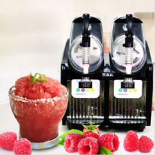 2 Tank Frozen Drink Slush Slushy Making Machine Juice Smoothie Maker 2-2L