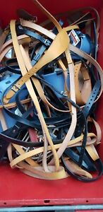 Joblot Wholesale Leather Dog Collars leads and muzzles greyhound