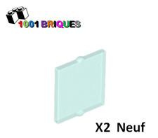Lot x2 Lego Glass vitre Window 1x4x6 Flat Front bleu trans blue 6022905