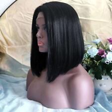 Long Front bangs Black hair short BOB wig cheap FASHION Women Lace Front Wigs