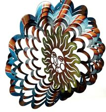 Kinetic Metal Wind Spinner Sun Outdoor Hanging Sculpture Spinning