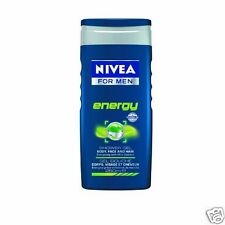 Nivea Men Shower Gel Body Wash Energy Mint Extract for Body, Face and Hair 250ml
