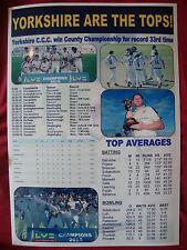 Yorkshire CCC 2015 County Champions - souvenir print