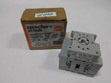 SPRECHER + SCHUH FRONT MOUNT LOADSWITCH 25AMP LE7-25-1753 NIB