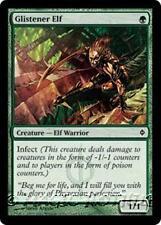 GLISTENER ELF New Phyrexia MTG Green Creature — Elf Warrior Com