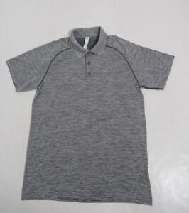 Lululemon Men's Metal Vent Tech Polo Slate / White Size M Stretch