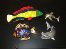 """""""Aquantic Fish"""" Brooch Pin (Dophin & Fish) Fish Hair Barrette Whale Pendent"""