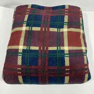 Northwest Company Plaid Fleece Blanket Green Blue Red Polyester 64x82