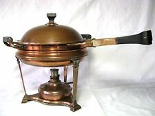 Antique Copper Landers Frary & Clark Art Deco Roman Cathedral Chafing Dish Bowl