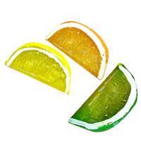 6PCS Decorative Artificial Plastic Lemon Slice Home Decor Fake Fruit Kids Toy