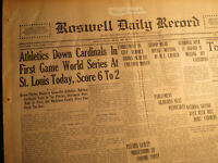 Baseball St,Louis Cardinals 1931 World  Series Champions 10 Complete Newspapers
