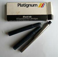 Platignum Black Ink Cartridges 2 with Box and Parker Pen Part
