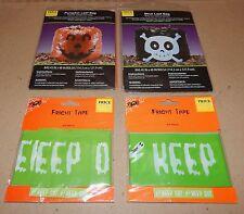 "Halloween Fright Tape 2ea & Pumpkin & Skull Leaf Bags 2ea 45"" x 48"" 133V"