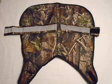 camouflage saddle pads with two colors piping all around poly-fill padding