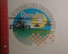 Aufkleber/Sticker: Koninklijke Luchtmacht Open Dag 1997 Gilze Rijen (29121644)