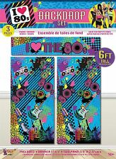 6ft Love the 80s Decorating Backdrop Scene Setter Set Kit Room Banner Decoration