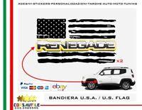adesivi stickers bandiera americana per logo portiera anteriore jeep renegade