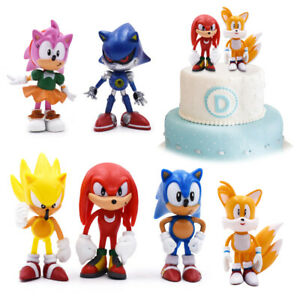6PCS Sonic Classic The Hedgehog PVC Action Figure Model Kids Toy Cake Topper