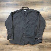 Columbia PFG L/S Button Front Shirt Men's Size XXL Black