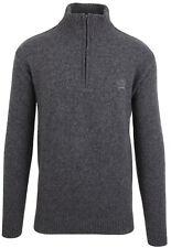 Paul & Shark Yachting sweater jumper troyer size 2XL 100% wool zipper gray grey