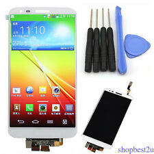 LCD Display Touch Screen Digitizer Assembly For LG G2 D800 D801 LS980 White+Tool