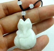 100% Chinese jade hand-carved the statue of fox PENDANT W-15