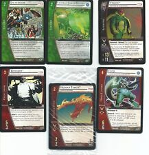 Marvel Comics DC VS System Collectable Card Game Lot of 9 Cards Upper Deck