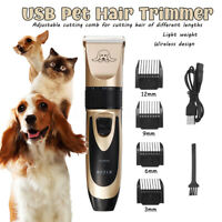 Pet Hair Clipper Grooming Electric Trimmer Shaver Comb Rechargeable Wireless Dog