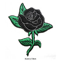 Black Rose Disney Embroidered Patch Iron on Sew On Badge For Clothes Bags etc