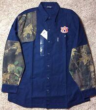 Columbia Men's University of Auburn Long Sleeve Button Shirt Phg Camo Tigers L