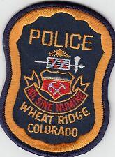WHEAT RIDGE COLORADO CO POLICE SHOULDER PATCH
