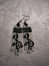 Seed   Bead  Earrings new white / black music  notes