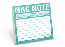 Nag Notes- Keep It Simple Sticky Notes- Nag Sticky Notepad-Funny- Office- NEW