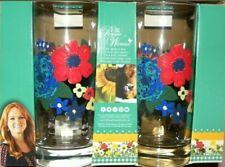 NWT The Pioneer Woman Glasses Drinkware Tumblers Dazzling Dahlias Set of 4 NEW
