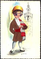Embroidered Postcard: Spanish Boy (ref: Valencia, # 6) Free UK Postage