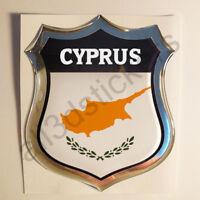 Sticker Cyprus Emblem 3D Resin Domed Gel Cyprus Flag Vinyl Decal Car Laptop