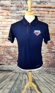 NWOT Reebok South Carolina STINGRAYS ECHL Hockey Navy Athletic Polo Shirt Sz S