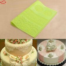 Silicone Lace Mold Mould Sugar Craft Fondant Mat Cake Decorating Sugarcraft Tool