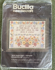 everything grows with love Heart of Love Vintage Counted Cross Stitch Kit by Golden Bee birds flower cross stitch retro embroidery kit