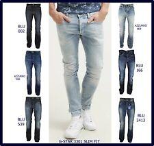 Jeans g-star raw uomo slim fit denim a gamba dritta dritti svasati w29 w30 w32