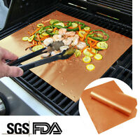 4PCS Home Garden Outdoor Copper Chef Grill and Bake Mats Camping BBQ Pad Tool US