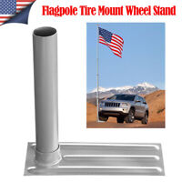 Metal Tire Mount Tailgate Wheel Stand 20FT 25Ft Telescopic Flagpole Pole Holder