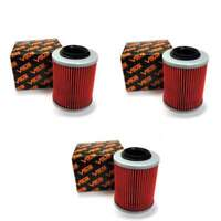 Volar Oil Filter - (3 pieces) for 2001-2006 Bombardier DS650